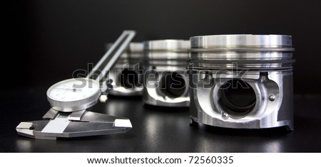 Pistons and measuring tool