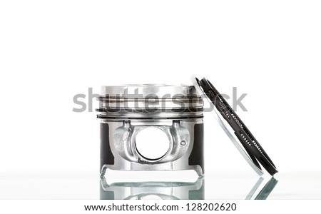 Pistons isolated on white