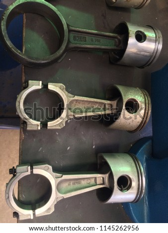 Pistons on the table , piston  clear HD image #1145262956