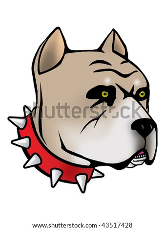 Pit bull Illustration with Illustrator file