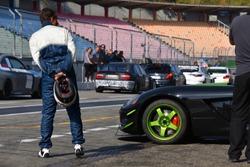 pit lane of a race track