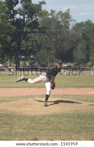 pitcher delivers a pitch