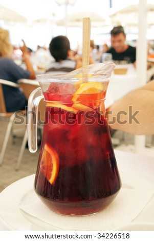 Pitcher with sangria
