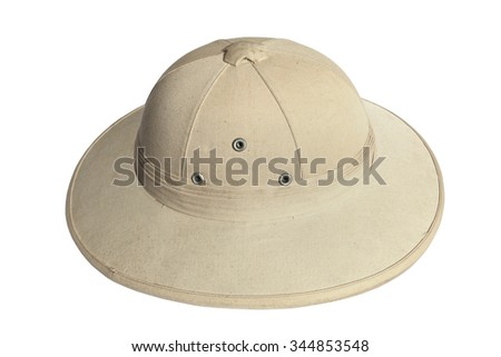f78be17f1 Pith helmet (safari helmet, sun helmet) isolated on white background ...