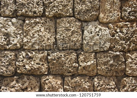Pitted Stone Wall