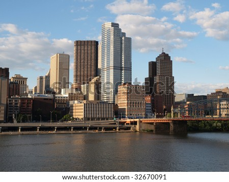 Pittsburgh Pennsylvania on a bright clear day.