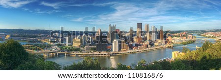 Pittsburgh, Pennsylvania panorama.