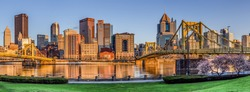 Pittsburgh Pennsylvania Skyline Panorama