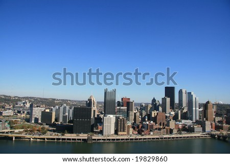 Pittsburgh's skyline - stock photo