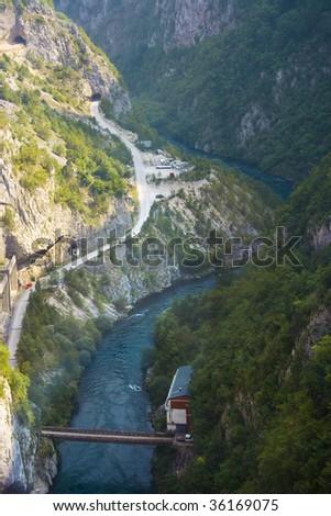 Piva (montenegrian river) view #2