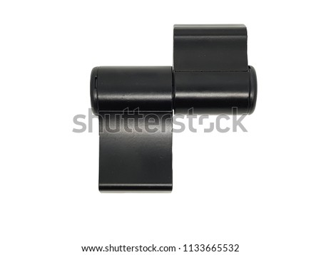 Pivot Hinge Hardware for door and window, Cast Aluminum Material, Dark Bronze color isolated on white background with clipping path. #1133665532