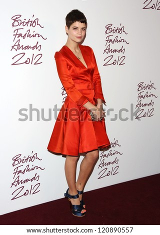 Pixie Geldof arriving for The British Fashion Awards 2012 held at The Savoy, London. 27/11/2012 Picture by: Henry Harris