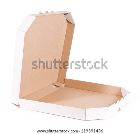 Pizza box isolated on white background