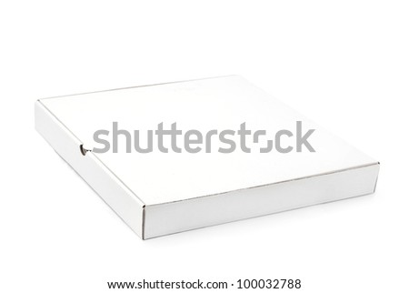 pizza box on white background