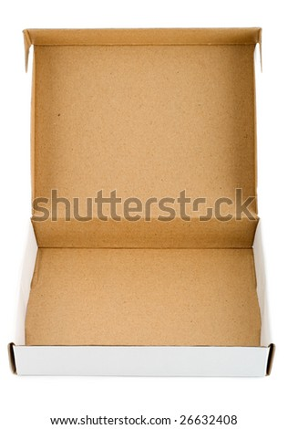 stock photo : Pizza box paperboard blank empty