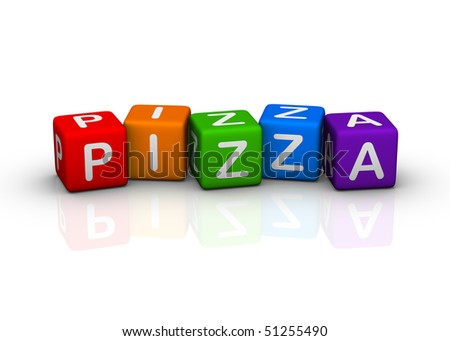 pizza (buzzword colorful cubes series)