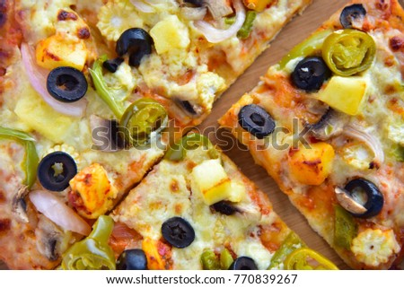 pizza close up #770839267