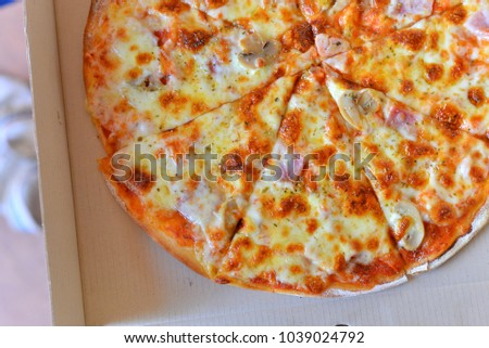 Pizza in a box. #1039024792