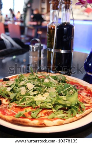 Pizza in a restaurant