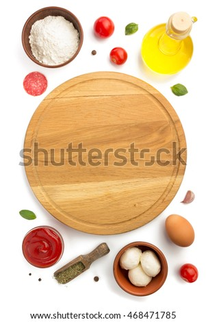 pizza ingredients isolated on white background #468471785