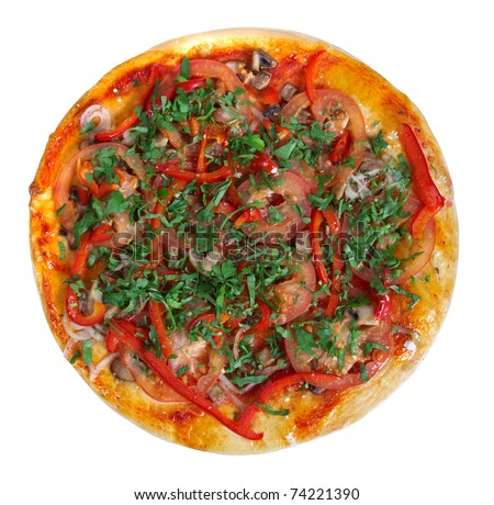 Pizza isolated on white background.