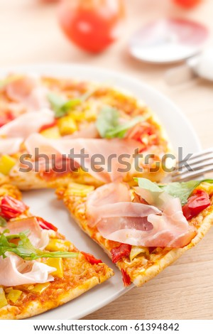pizza on plate