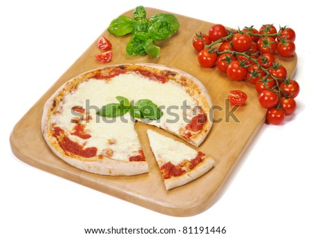 Pizza on the cutting board