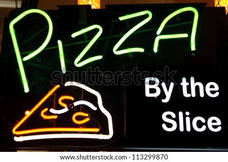 Pizza Peperoni Neon Light Sign