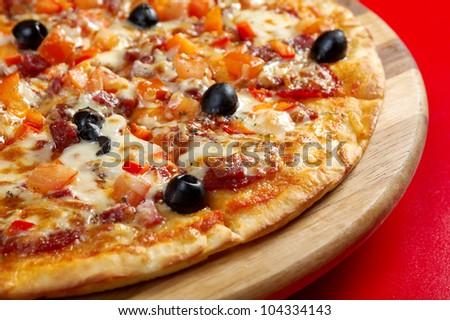 Pizza Pepperoni .italian kitchen. Studio