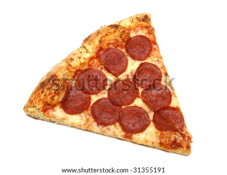 Pizza Slice - stock photo