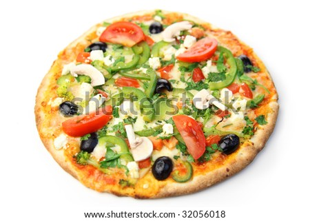 pizza / white background