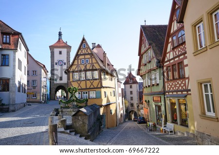 Plönlein - Rothenburg ob der Tauber, Germany