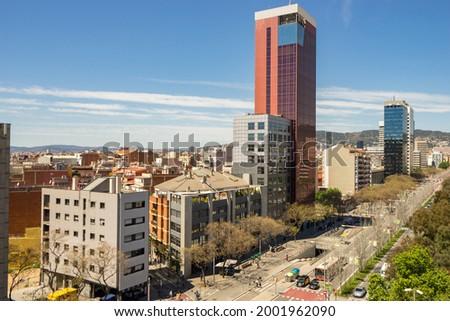Placa de Espanya downtown of Barcelona. Spain Foto stock ©