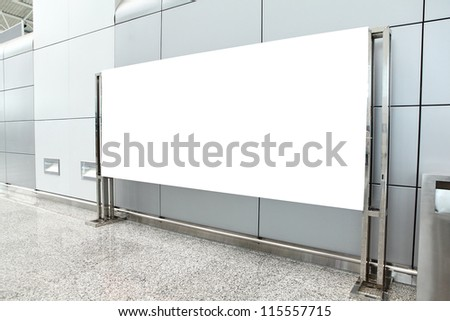 Placard with empty copy space in airport (path in the image), shot in china, Guangzhou airport