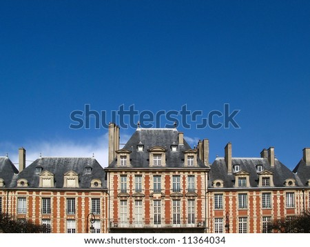 Place des Vosges 02, detail, Paris, France