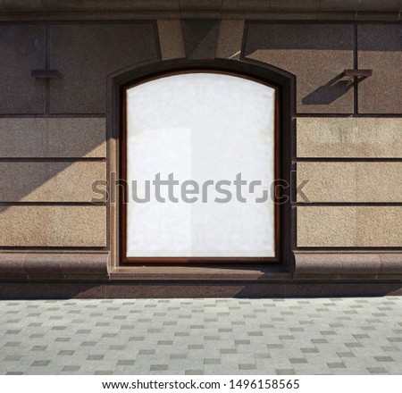 Place for advertizing in window of building #1496158565