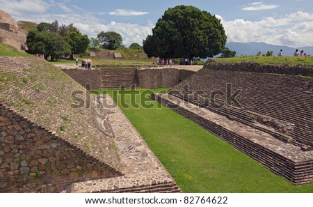 place for ball games  of Monte Alban, Oaxaca, Mexico