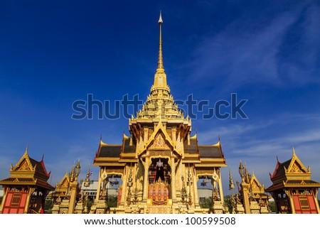 Place for Royal Cremation of Her RoYal Highness Princess Bejaratana in Bangkok, Thailand