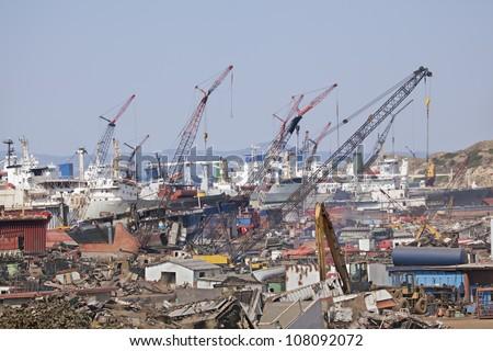 place of ship dismantling, Aliaga,izmir