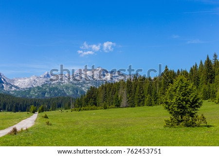 Place of the famous place Durmitor National Park, Balkans. The village of Zabljak, Montenegro, Europe. #762453751