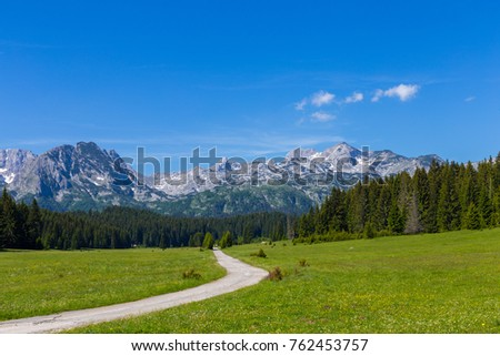 Place of the famous place Durmitor National Park, Balkans. The village of Zabljak, Montenegro, Europe. #762453757