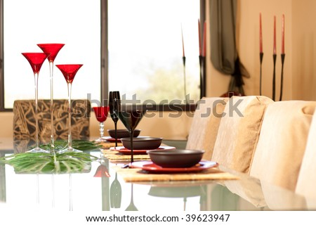 Place setting for a formal dinner