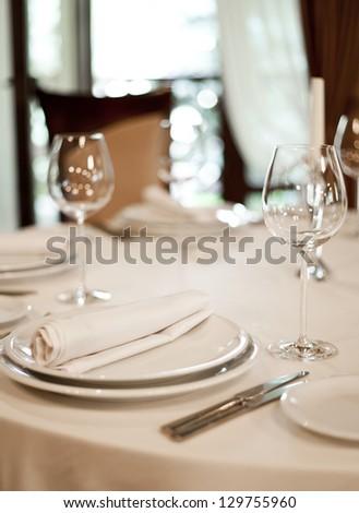 Place setting, restaurant