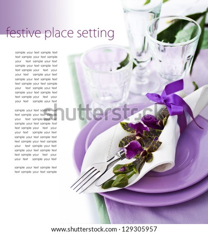 Place Setting with Orchid