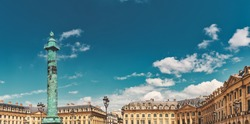 Place Vendome in Paris, France