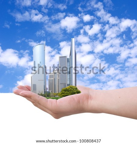Placed in the hands of the Shanghai grass and towers.
