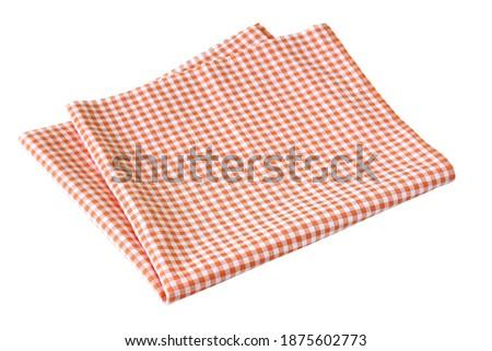 Placemat, Scotch pattern, orange-white on white background Stock photo ©