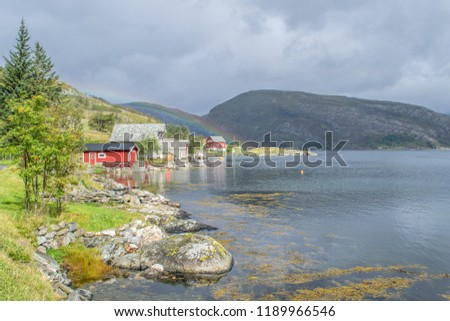 Places you heard about in fairytales do exist . Photo from Oldeide , in Bremanger , in Norway .