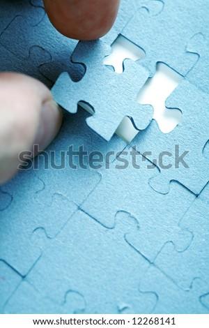 Placing puzzle piece into correct place