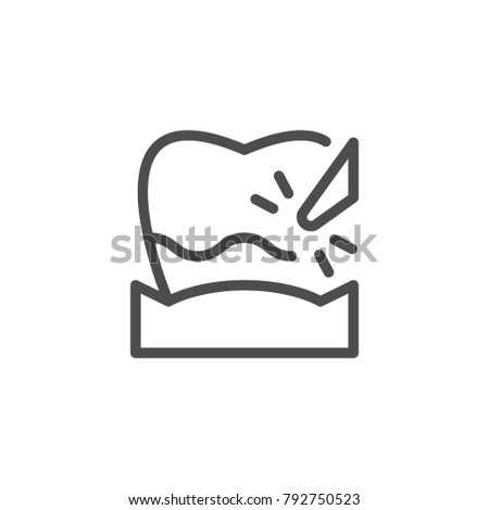 Plague removal line icon isolated on white
